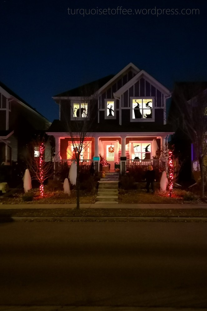 Halloween House Exterior DIY Window Silhouettes