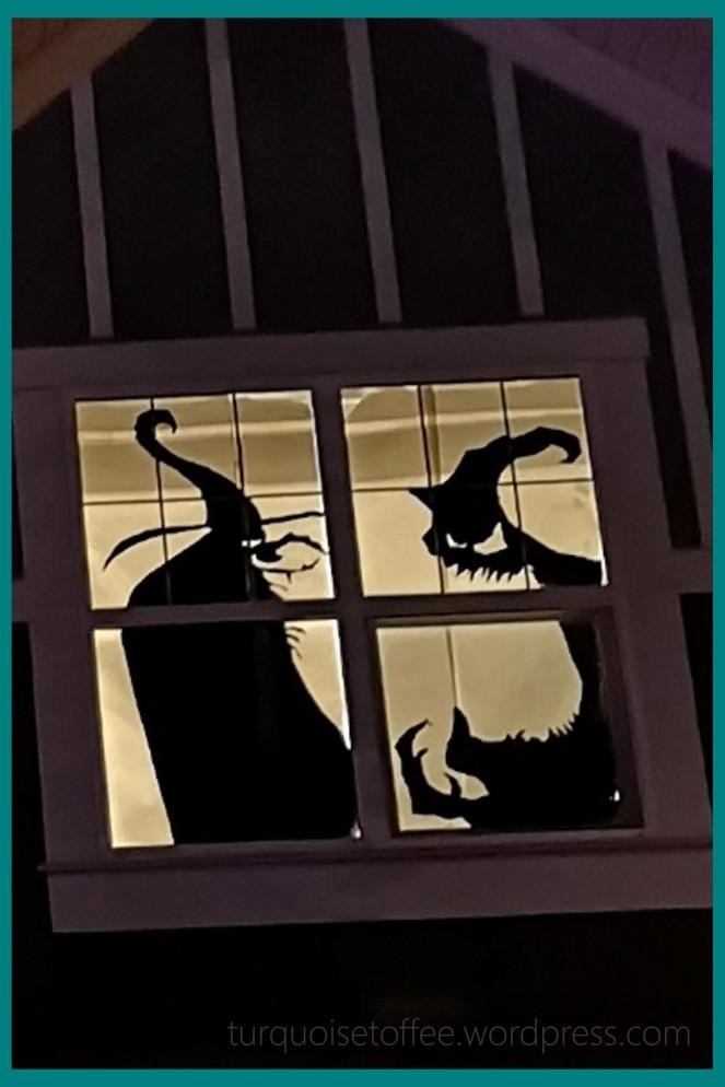 Halloween Window Silhouette DIY